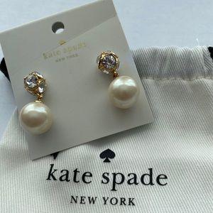 Kate Spade NWT Lady Marmalade Pearl Drop Earrings